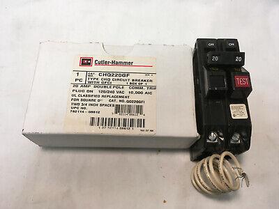 240 V Gfci Circuit Breaker (Eaton / CH CHQ220GF 2P 20A 120/240V Type CHQ GFCI Circuit Breaker 10KAIC)