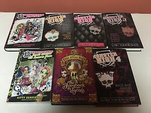 Monster high/ever after books!!!