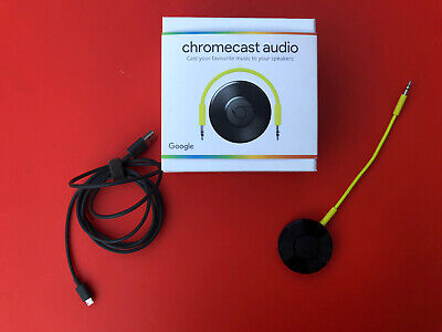 Google Chromecast Audio 2nd Generation Media Streamer - Black