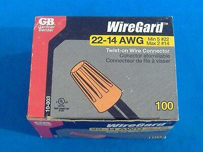 Box Of 100 Gardner Bender Orange Wire Connectors Twist On Conical Nut Nuts