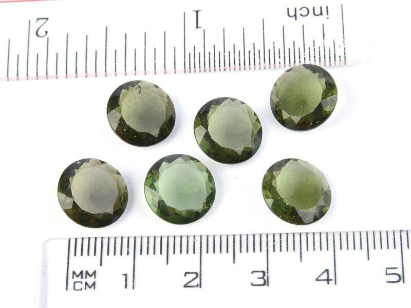 0.55-0.57g round 11mm STANDARD CUT moldavite faceted cutted gem BRUS1809