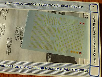 Microscale Decal N  #60-139  KCS Passenger Car Dates:1950s-60s