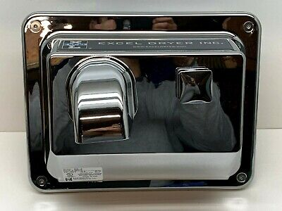 Excel R76-C Recessed Hand Dryer Push-Button, Chrome, 110-120V, MADE IN USA Chrome Recessed Push Button