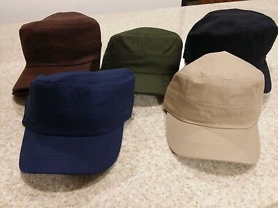 Flat Top Hats Cadet Cap Jeep Style Military Style Caps Solid - Flat Top Hat