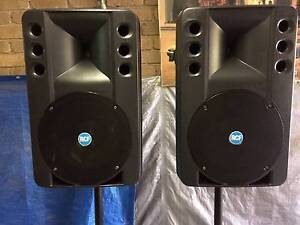 RCF ART 300 Speakers + Amp + Speaker Covers + Speaker Stands Wantirna Knox Area Preview