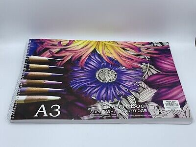 A3 SketchBook Super White Cartridge Paper - 50 Sheets Of Drawing Paper - New!