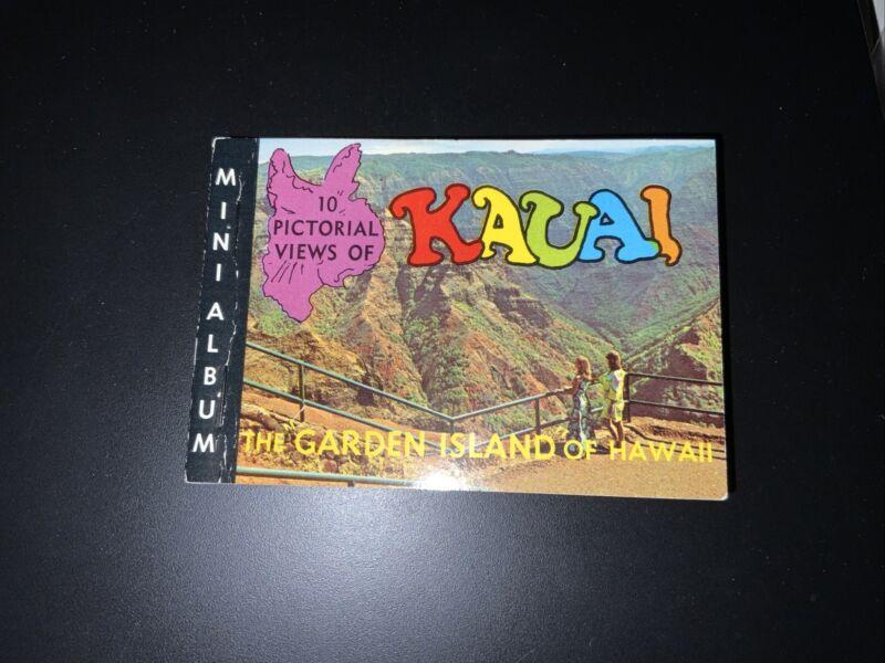 Vintage 1969 Kauai Hawaii Mini Photo Album Travel Souvenir Book