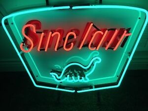 Sinclair gasoline dinosaur real LARGE 2ft NEON tube sign