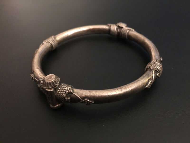 Old Indian Sterling Silver Bangle Extremely Rare!!! Collectible!!!