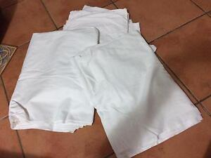 3 x heavy duty single bed flat sheets - good for ground covers Birkdale Redland Area Preview