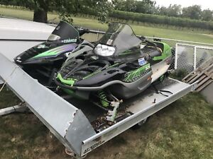 Arctic Cat Snowmobiles + Double tilt trailer