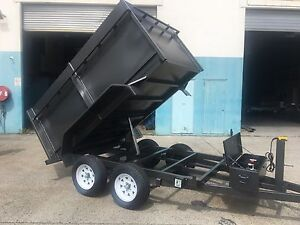 AUSSIE BUILT 9X5 2.9TON HYDRAULIC TIPPER TRAILER WITH 1.1M SIDES Logan Area Preview
