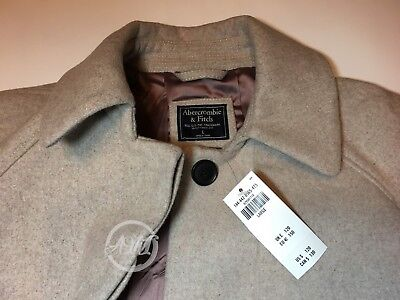 NWT Abercrombie & Fitch Women's $120 Wool-Blend Swing Coat Blush Size L