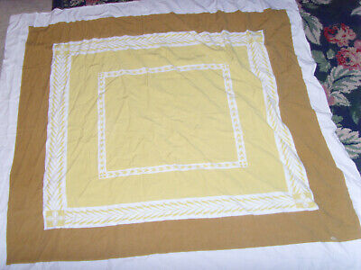 Great harvest wheat gold and brown vintage kitchen tablecloth retro country