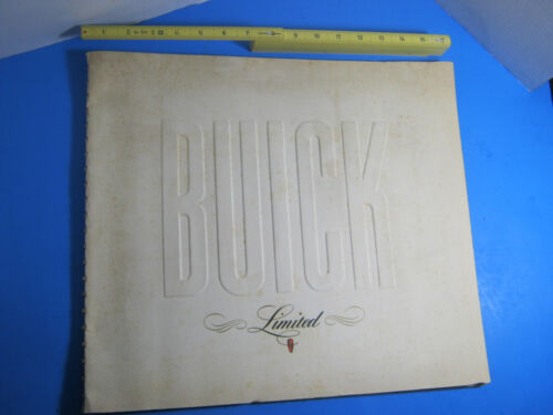 Original 1940 Buick Limited Deluxe Spiral Bound Sales Brochure