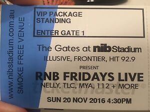 RNB Fridays Tickets VIP Pass x 2  Nelly Mya Mount Lawley Stirling Area Preview