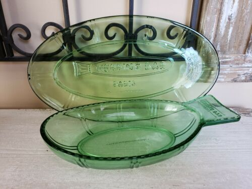 Herring Plates by Paola Navone for Serax Green Glass