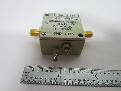 Mini Circuits Rf Amplifier Frequency Zfl-2000 Bink1-13