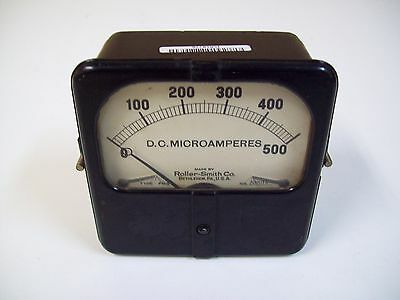 Roller-smith 202018 D.c Microamperes Meter Type Fds 0 - 500 - Used - Free Ship