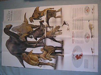 Planet Of The Dinosaurs Map Poster Supplement National Geographic December 2007