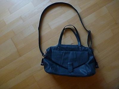Handtasche Kunstleder, petrolblau