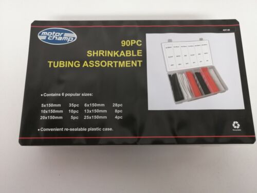90PC Electrical Heat Shrink Tube Kit By Motor Champ