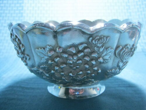 Antique Japanese Meiji Sterling Silver 純銀 Bowl Marked 439g