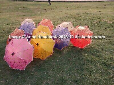 Decorativo Indio Portátil Sombrillas Boda Vintage Parasol Dorado Paraguas