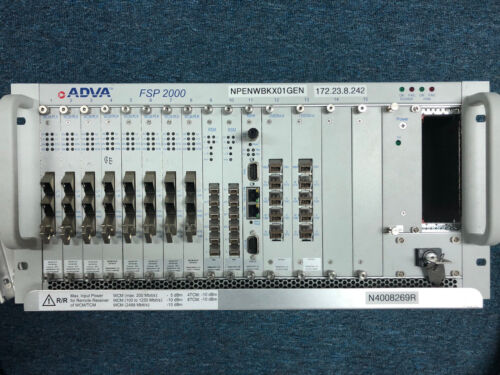 Adva Fsp2000 Shac/5hu 0078200001 Within Laoded Units (check Pictures) 0063207402