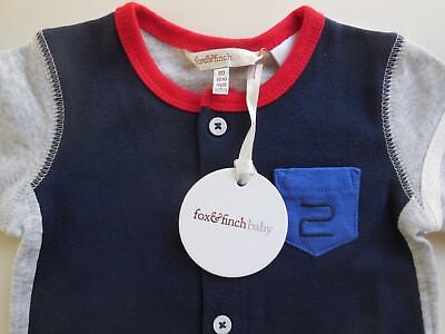 'FOX & FINCH' QUALITY BABY BOY ROMPER PLAYSUIT SIZE 00 FITS 6M *BRAND NEW, used for sale  Shipping to Canada