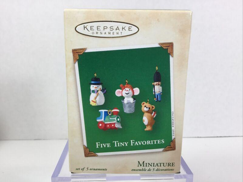 Hallmark Keepsake Miniature Ornaments Five Tiny Favorites 2002 Memory Card