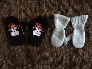 2 pairs of adorable mittens - both for $2