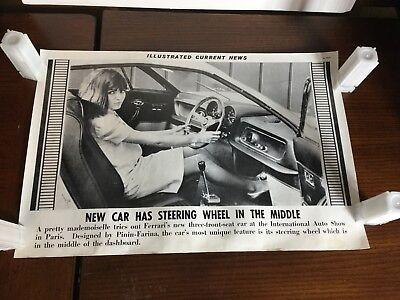 Illustrated Current News Photo - Ferrari's Middle Steering Wheel Pinin Farina