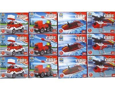 48x Bausteine Set Feuerwehr Fahrzeuge Restposten Sonderposten Posten Flohmarkt