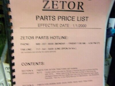 Zetor Parts Hotline