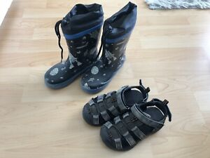 Boys rubber boots and sandals