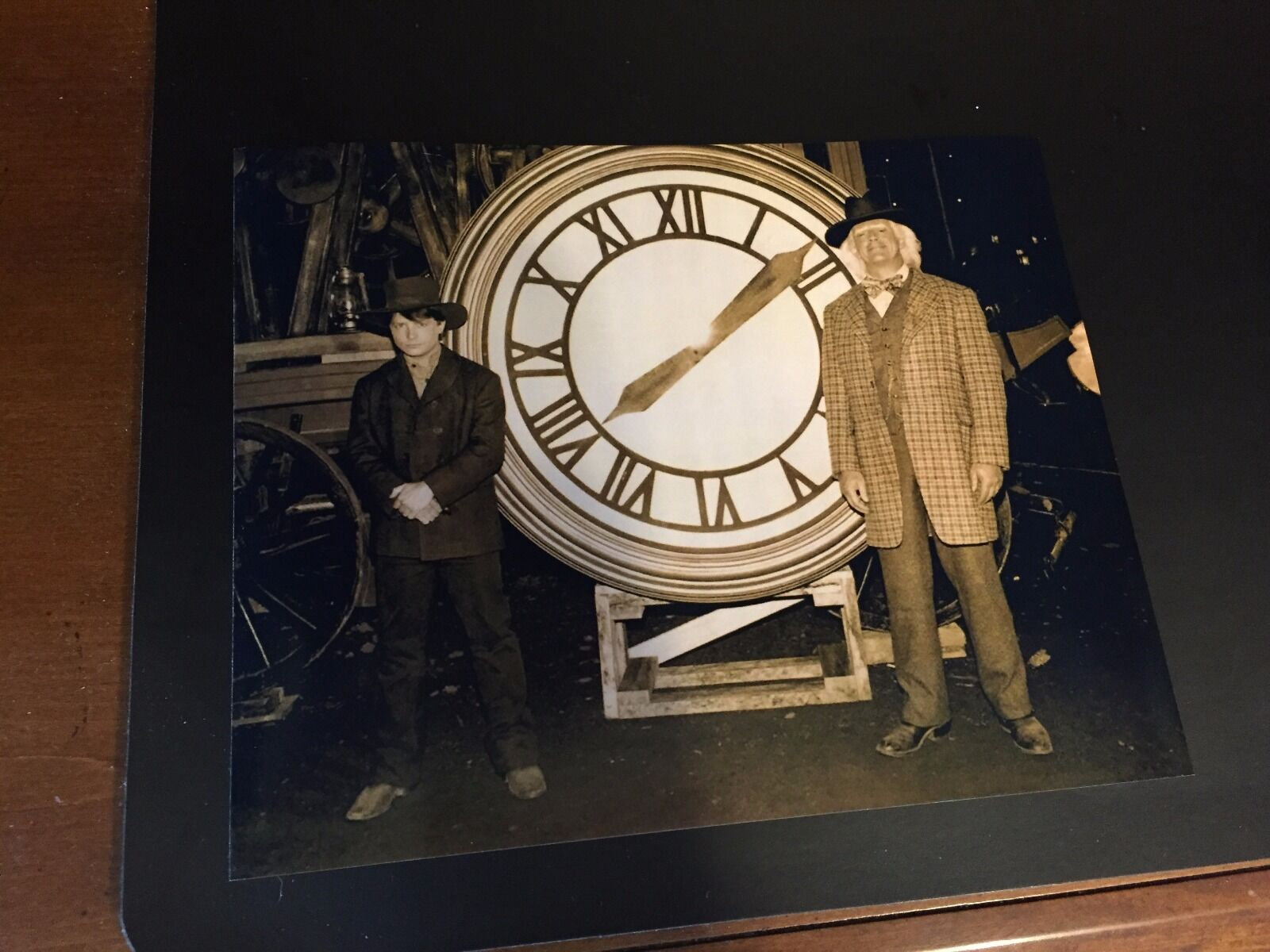 Купить Back to the Future  - Marty & Doc with the Clock Photo Prop Reproduction 8