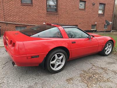 1991 Red Chevrolet Corvette   | C4 Corvette Photo 1