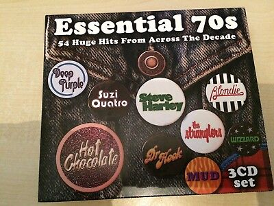 VARIOUS - ESSENTIAL 70S: 54 HUGE HITS (CD album) 3CD SET
