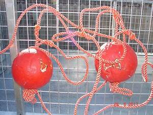 CRAYPOT FLOATS USED 2 WITH ROPE $10 Safety Bay Rockingham Area Preview