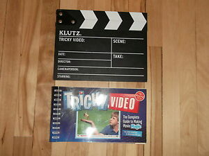 KLUTZ VIDEO MAKING BOOK AND CLAP BOARD