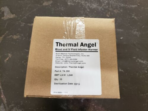 New Case of 10 Estill Thermal Angel Blood & IV Fluid Infusion Warmer TA-200