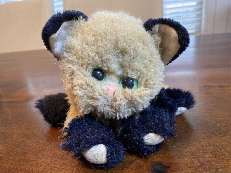 "Vintage 1992 Tyco Kitty Kitty Kittens Siamese Purring Rattling 6"" Plush Cat RARE"