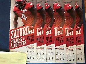 Stamps vs Alouettes - July 21 - 6 Tickets - Row 3!