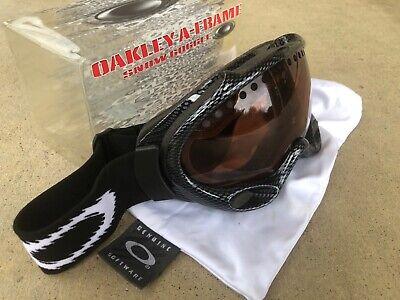 NEW OAKLEY A FRAME CARBON FIBER / BLACK IRIDIUM SNOW SKI SNOWBOARD GOGGLE (Oakley Carbon Fiber Goggles)