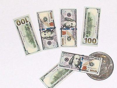 5pc Miniatur Puppenhaus Barbie Spiel Geld Lot Hunderte Kasse Rechnungen ()