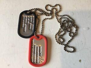 custom stamped/debossed medical emergency U.S. dog tags, with silencers