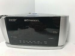 Emerson Smart Set Time Projector AM FM Dual Alarm Clock Radio CKS3528 Working