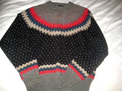 Vtg Nordic American Woolrich Wool Mohair Ski Lodge Sweater Iconic Usa   M L