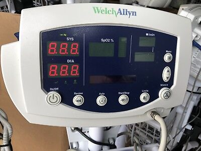 Welch Allyn 53nto Vital Signs Monitor 300 Series Spo2 Temp Nibp.